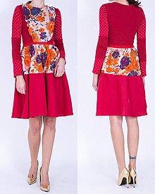 Šaty - Červené ľanové šaty - 7487670_