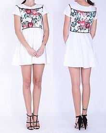 Šaty - Krátke úpletové šaty - 7487697_