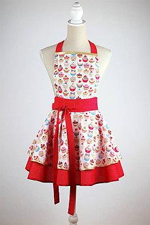 Iné oblečenie - LUXUSNÁ ZÁSTERA CUPCAKE DOTS - 7488713_