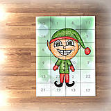 Papiernictvo - Adventný kalendár svetielka (elf) - 7488336_