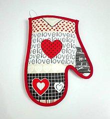 Úžitkový textil - chňapka Love ♥ - 7494831_