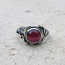 Prstene - Almandin art & craft ring - 7493730_