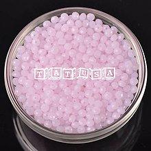 Korálky - Korálky - sklenené brúsené 6x8mm alabaster pink - 7493890_