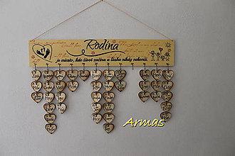 Dekorácie - Rodinný kalendár VII. - 7491085_
