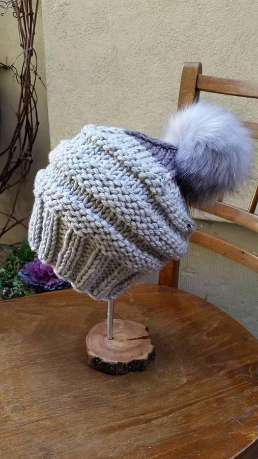 305a4f2de Dámska pletená čiapka s brmbolcom-šedá / Frigi - SAShE.sk - Handmade ...