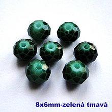 Korálky - Skl.rondelka 8x6mm-1ks - 7492352_