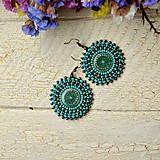 Náušnice - Pottery earrings n.31- vyšívané náušnice - 7493774_