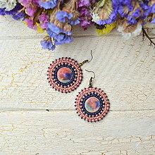 Náušnice - Pottery earrings n.28 - vyšívané náušnice - 7493750_