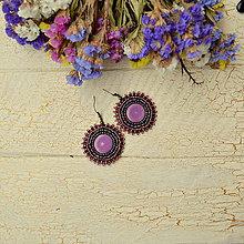 Náušnice - Pottery earrings n.29 - vyšívané náušnice - 7493762_