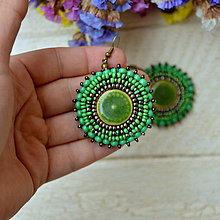 Náušnice - Pottery earrings n.30- vyšívané náušnice - 7493767_