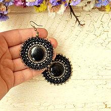 Náušnice - Pottery earrings n.33- vyšívané náušnice - 7493781_