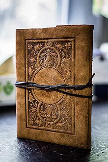 Papiernictvo - Kožený zápisník A5 - záhrada - 7494929_