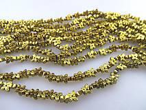 hematit korálky, motýle zlaté z hematitu