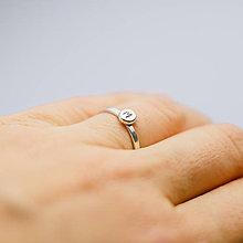 Prstene - Prstienok s písmenkom - 7491054_