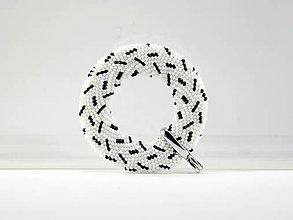 Náhrdelníky - Háčkovaný prívesok Donut - dážď - 7492624_