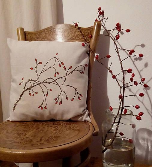 Úžitkový textil - Prírodný vankúš šípky - ručná kresba - 7494126_