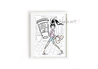 Obrazy - GIRL BOSS BUILDING HER EMPIRE framed print - 7494414_