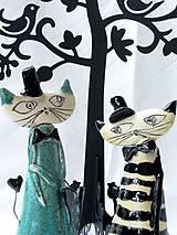 Dekorácie - kocúr, mačka  figúrka - 7492503_
