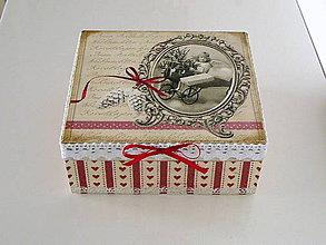 Krabičky - Vianočná krabička - 7492599_