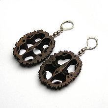 Náušnice - Orechové ornamenty do uška - 7493426_