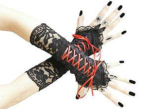 Rukavice - Dámské čierné bezprsté rukavice 0480 - 7499771_