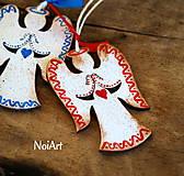 Dekorácie - Vianočná ozdoba ANJEL vlnkovaný - 7499128_