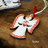 Dekorácie - Vianočná ozdoba ANJEL vlnkovaný - 7499129_