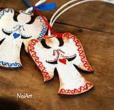 Dekorácie - Vianočná ozdoba ANJEL vlnkovaný - 7499130_