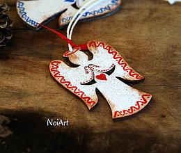Dekorácie - Vianočná ozdoba ANJEL vlnkovaný - 7499131_