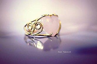 Prstene - zlatý prsteň - Miluje ma - 7495855_