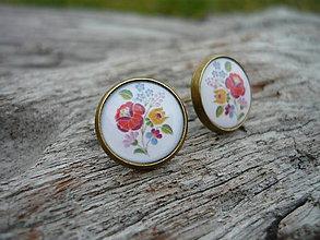 Náušnice - Náušnice FOLK flowers - 7498827_