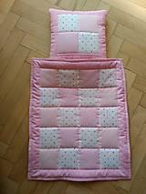 Textil - Deka a vankúšik pre bábiky - 7497877_