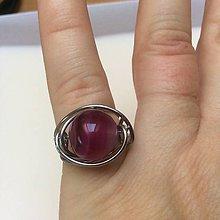 Prstene - prsteň s achátom cyklamén - 7496294_