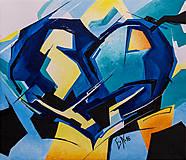 Obrazy - Akrylový obraz Srdce 5, 30 x 26 cm, akryl na plátne - 7498528_