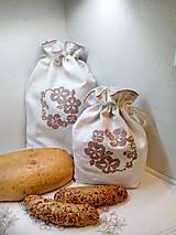 Ľanové vrecúška na chlieb, pečivo - sada 2 ks