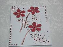 Papiernictvo - Pohľadnica  - kvietky v bordovej - 7498630_