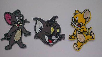 Galantéria - Nažehlovačka Tom & Jerry, 3 druhy - 7495648_