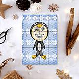 Papiernictvo - Adventný kalendár vločky (tučniak) - 7499030_