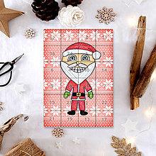 Papiernictvo - Adventný kalendár vločky (Santa Claus) - 7499226_