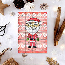 Dekorácie - Adventný kalendár vločky (Santa Claus) - 7499226_