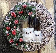 Dekorácie - Sovičkový vianočný - 7501518_