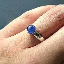 Prstene - Mini Elegant Tanzanite Ring Silver Ag 925 / Strieborný prsteň s pravým tanzanitom - 7501581_