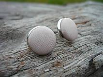 - Náušnice Buttonky Krémové - 7503983_