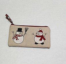 Taštičky - Taštička snehuliaci - 7500142_