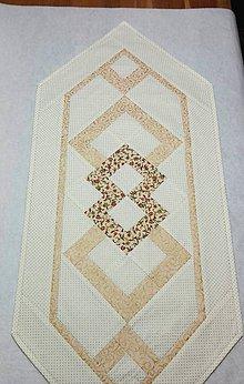 Úžitkový textil - Smotanovo zlatý obrus - 7502926_