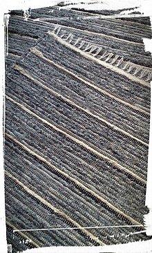 Úžitkový textil - Koberček pruhovaný-modrý - 7501838_