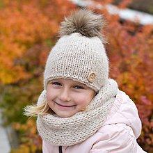 Detské súpravy - Prírodná súpravička z baby alpaky - 7502328_