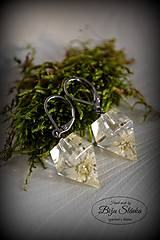 Náušnice Kvet v diamante (2097 A CHO)