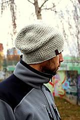 - ...pánska čiapka oversize LIGHT GREY - 7502489_