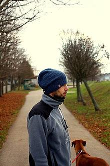 Doplnky - ...pánska čiapka oversized BLUE - 7502418_
